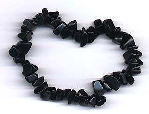 black obsidian healing chip bracelet