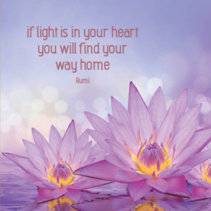 if light is in your heart greetings card