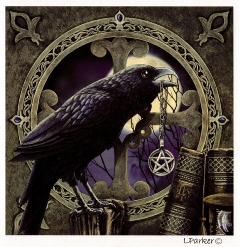 Lisa Parker Talisman Raven Wall Canvas Mystic Wish