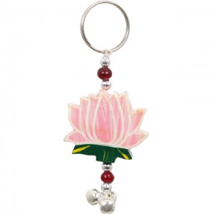 lotus leaf keyring