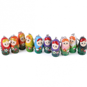 Russian dolls keyring