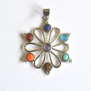 fancy flower chakra pendant