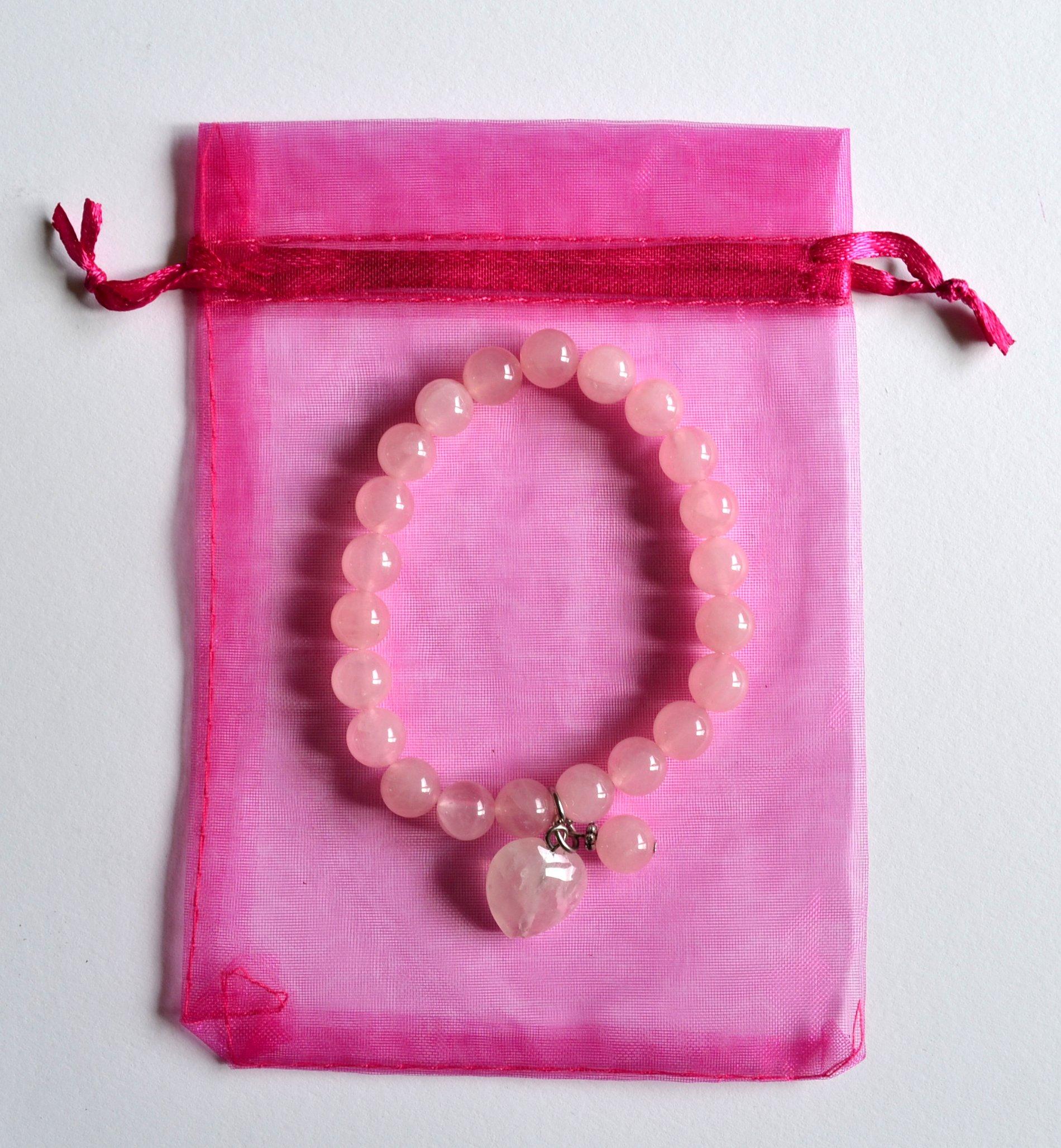 Pink Quartz Heart Bracelet Love Amp Self Love Mystic Wish