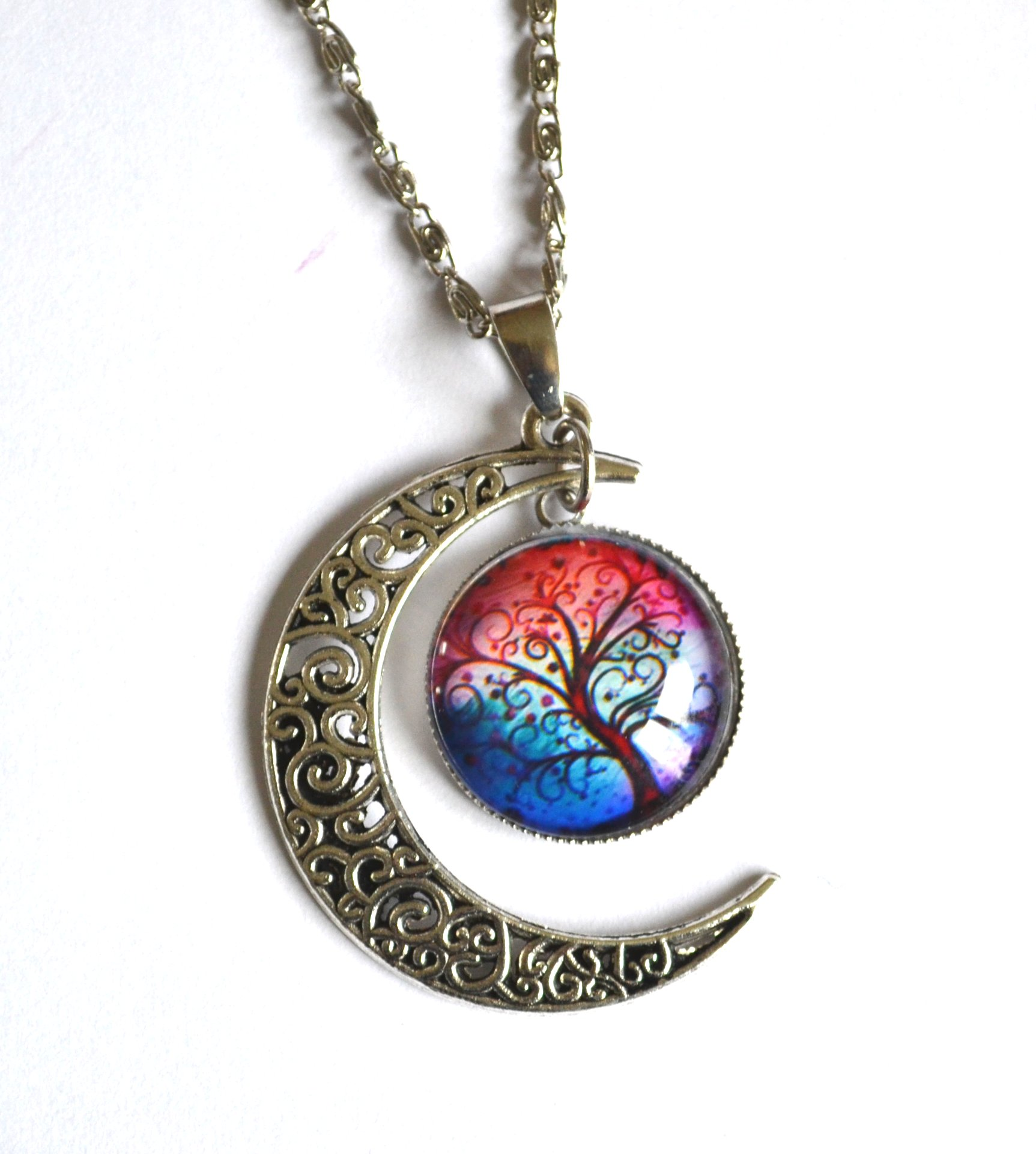 Tree Amp Moon Necklace Mystic Wish