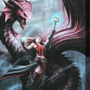 wall canvas by anne stokes scarlet mage
