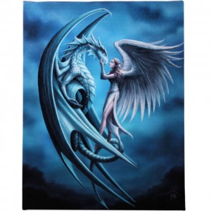 Wall canvas silver back Anne Stokes