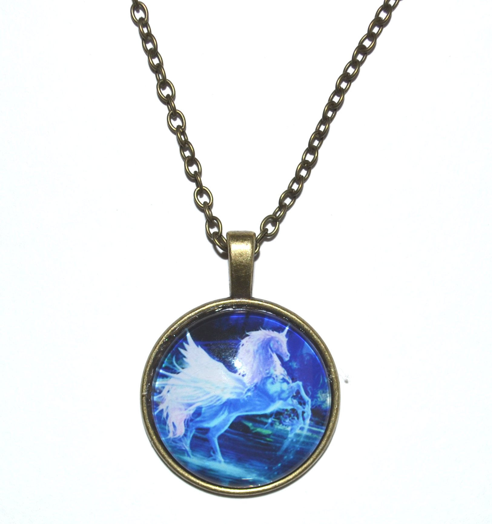personalised necklace gsrg unicorn