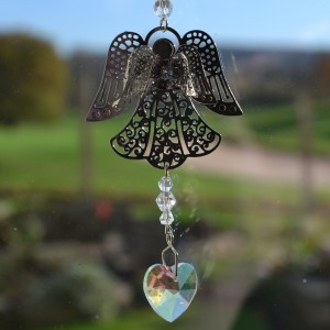 angel crystal hanging sun catcher