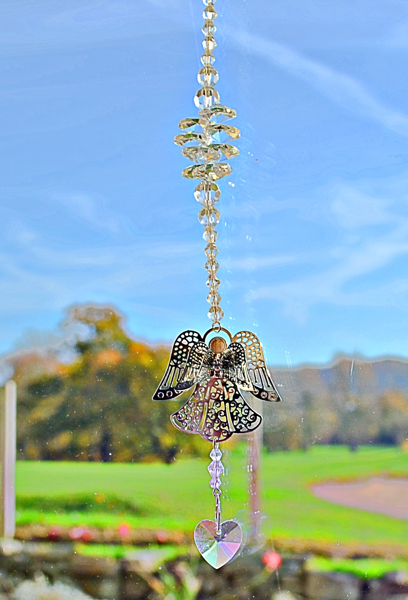 Cut Crystal Angel Sun Catcher Mystic Wish