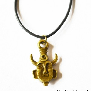 brass gold buddha necklace