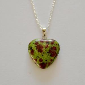 ruby in fuchite necklace pendant
