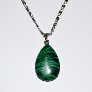 pendant teardrop necklace malachite