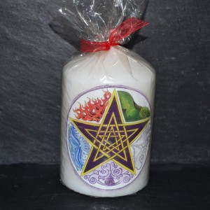 Elements pentacle candle
