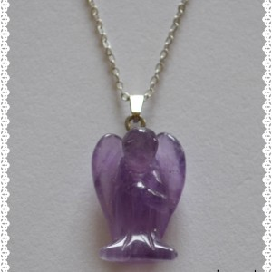 Necklace amethyst crystal pendant