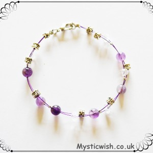 wired bracelet amethyst