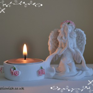 tealight holder praying angel