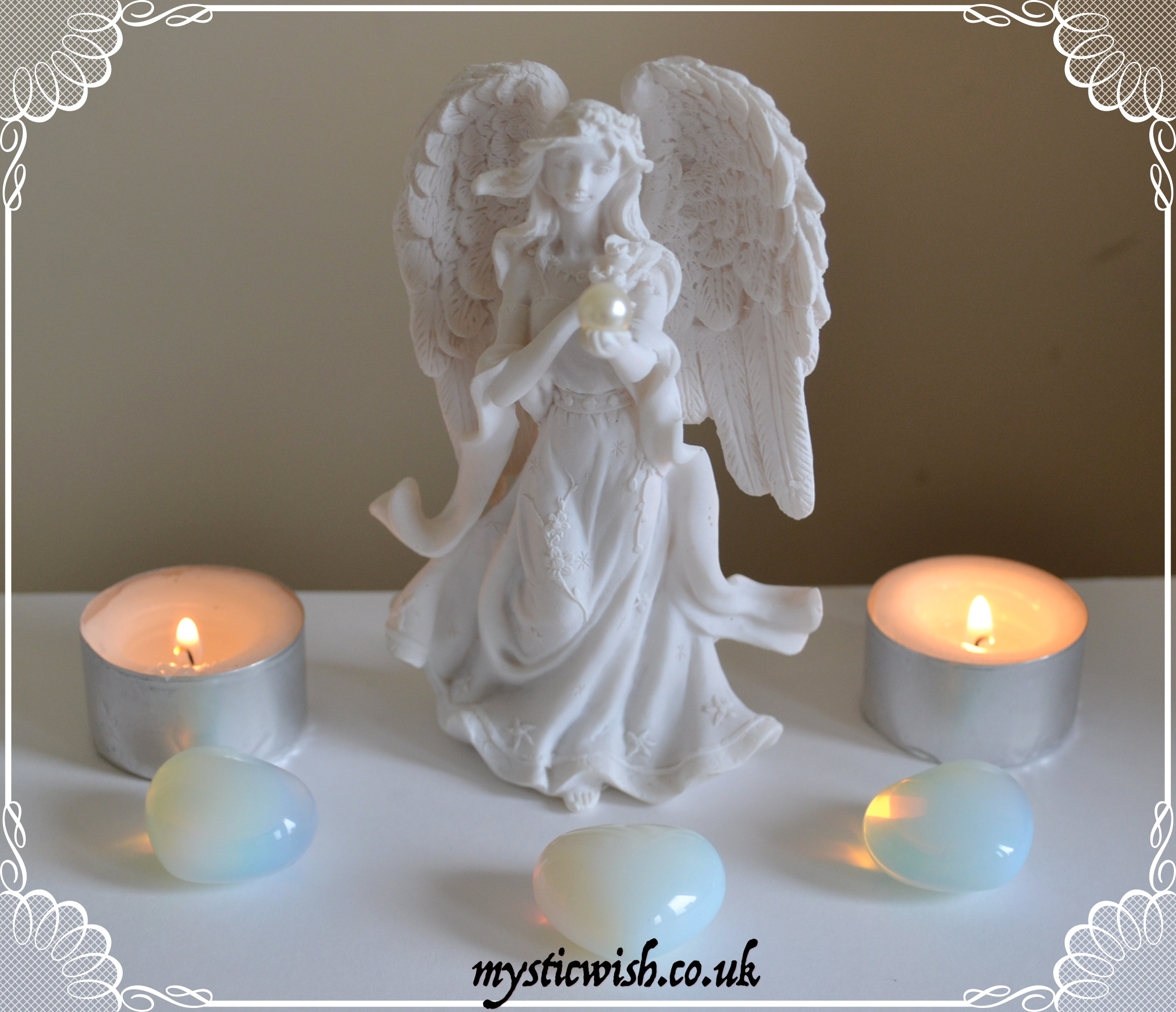 Guardian Angel Pearl Figure Mystic Wish