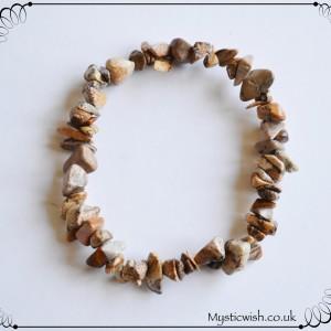 crystal picture jasper bracelet