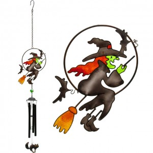 broom witch windchime suncatcher