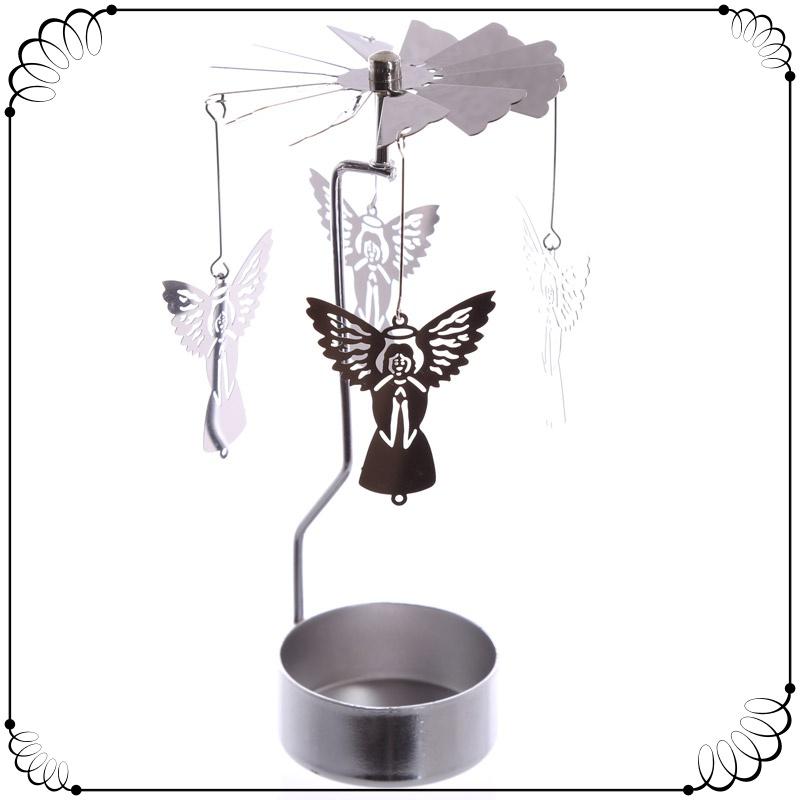Praying Angel Fairy Spinning Tea Light Holder Mystic Wish