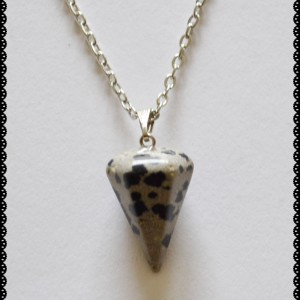 jasper dalmatian necklace pendulum