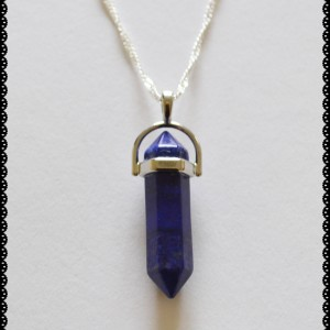 Pendant double point lapis