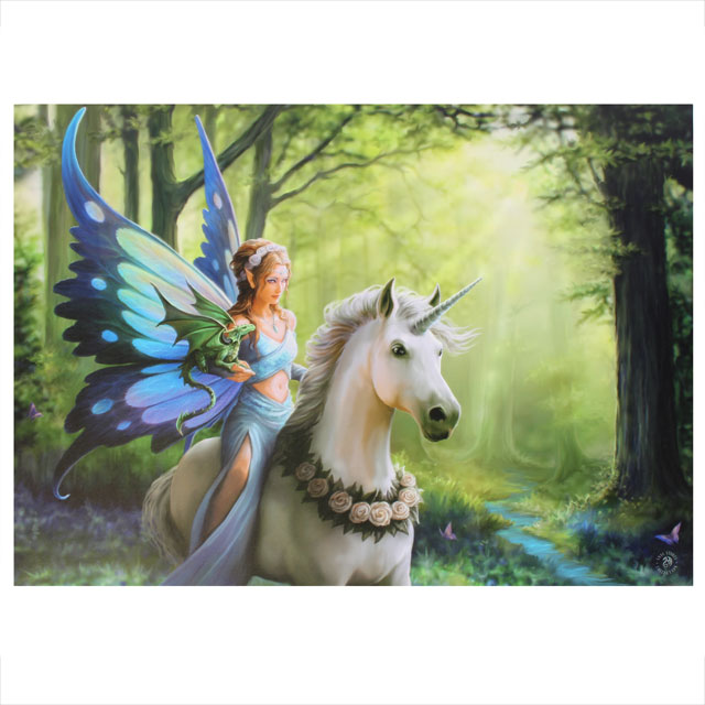 Large Realm Of Enchantment Unicorn Wall Canvas Anne Stokes