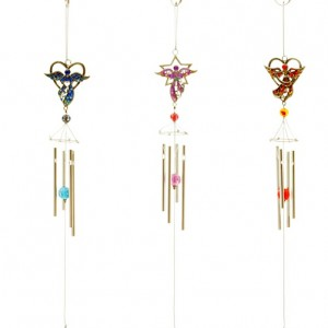 windchime heart angel