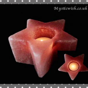 salt star candle holder