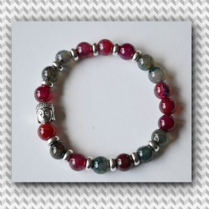 buddha bracelet mixed agate