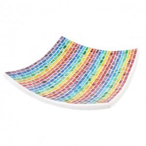 candle plate mosaic rainbow