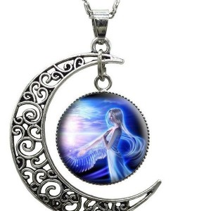 moon angel necklace serene