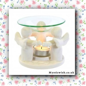 ceramic white angel oil burner