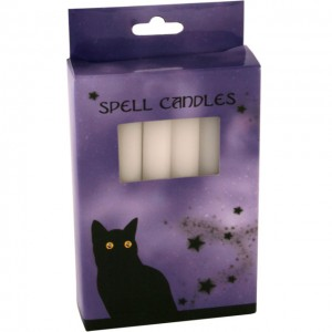 spell candles white