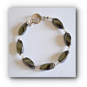twist bracelet hematite
