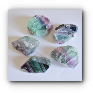chunks of rainbow fluorite