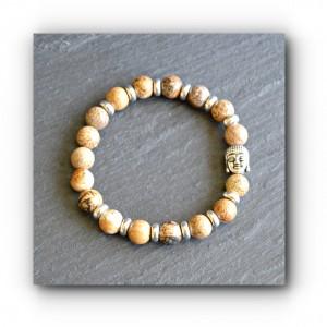 Bracelet picture jasper buddha
