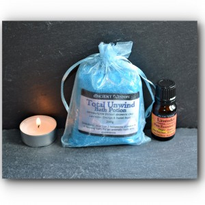 unwind total bath potion