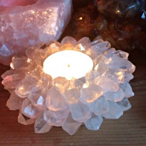 point tealight holder clear quartz