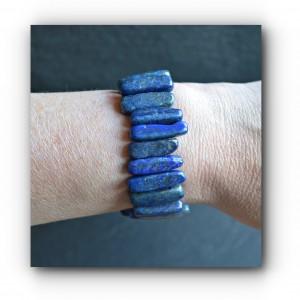 Chunky lapis bracelet