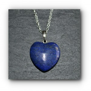 Necklace in heart lapis