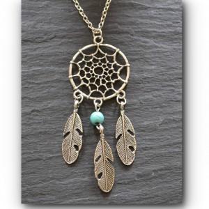 Bead dream catcher turquoise