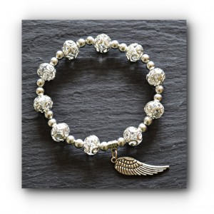 Bracelet single angel wing