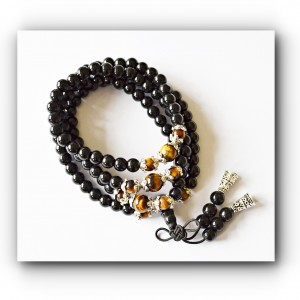 Necklace mala beads tigers eye