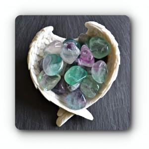 Rainbow fluorite crystal