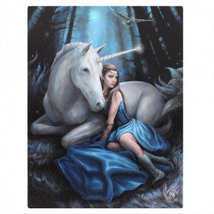 Anne stokes blue moon unicorn canvas