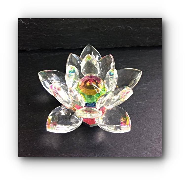 Glass Lotus Flower Mystic Wish