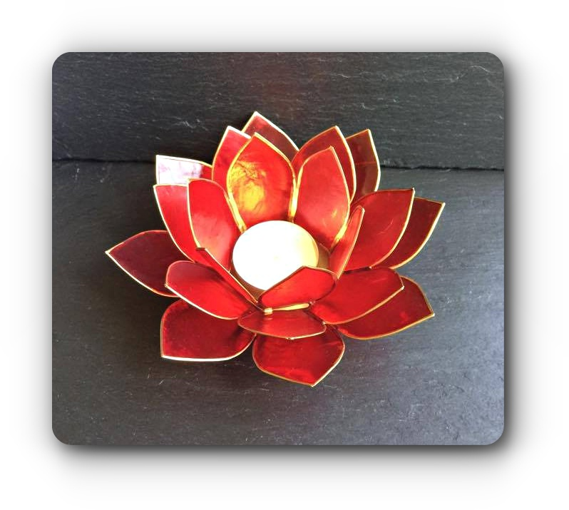 dee7b6c964 Red Lotus Flower Tea Light Holder | Mystic Wish