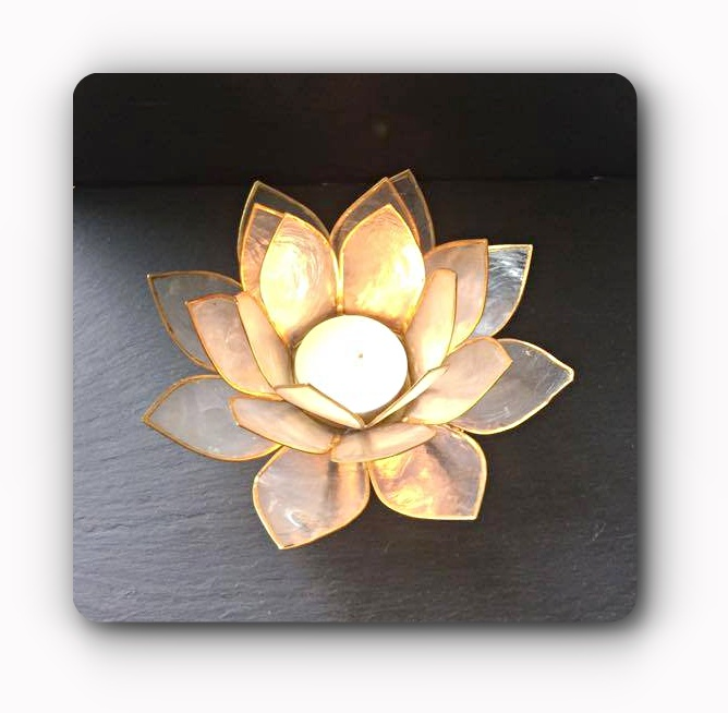 aaee72e2e4 white Lotus Flower Tea Light Holder | Mystic Wish