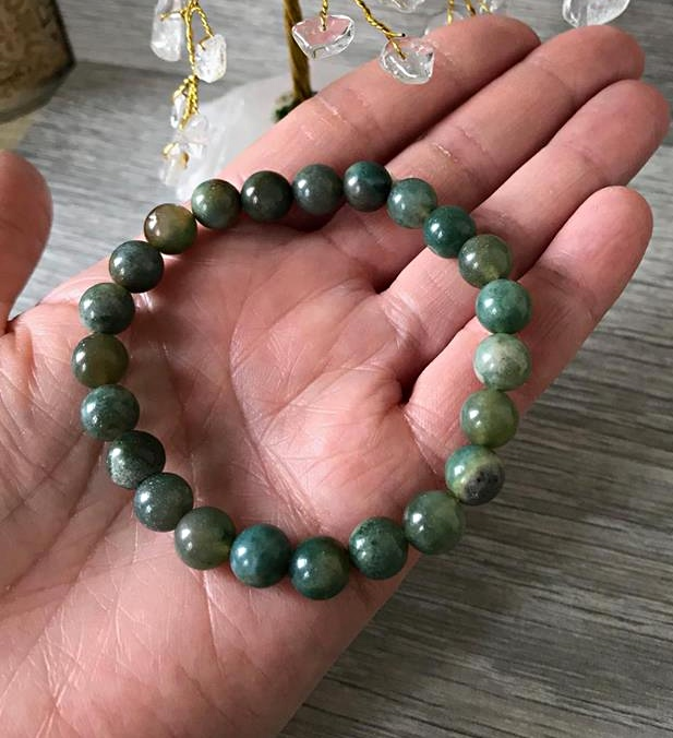 sterling bracelets beaded and silver green bracelet for adventure men moss stretchable agate